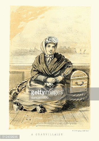 Woman of Granville, Manche, Normandy, France 19th Century