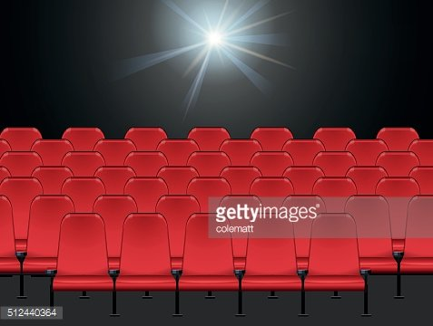Scene with red chairs in room