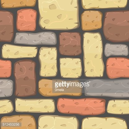 Seamless cartoon stone texture. Vector illustration.