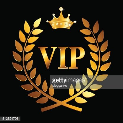 Gold Award Laurel Wreath with Crown and VIP Label. Winner