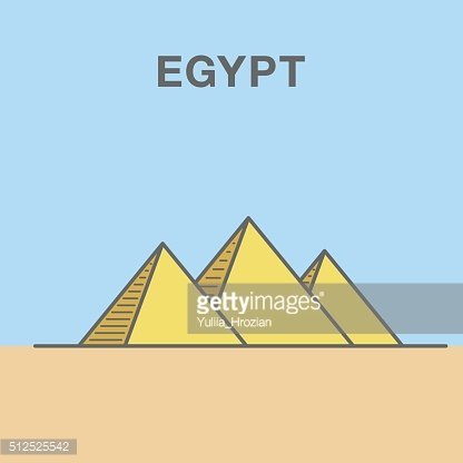 General view of pyramids from the Giza