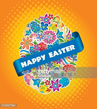Easter Symbol Egg and Spring flower.3