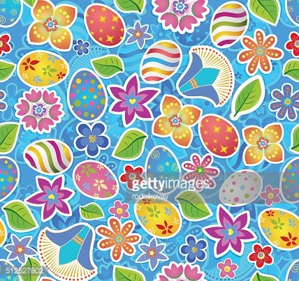 Seamless pattern with easter 2