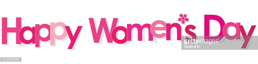 Happy Women's Day banner pink with Flower on white background.