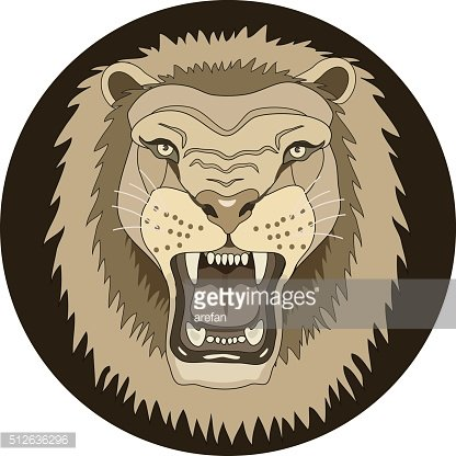 icon growling lion