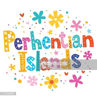 Perhentian Islands vector lettering decorative type