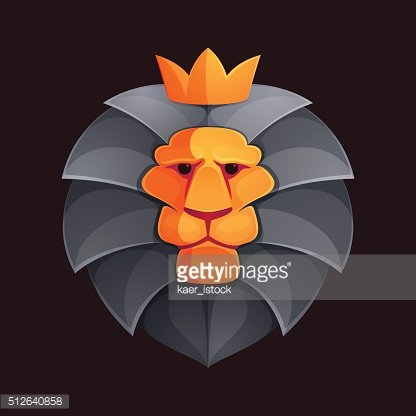Lion head volume vector icon.