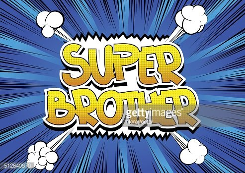 Super Brother - Comic book style word.