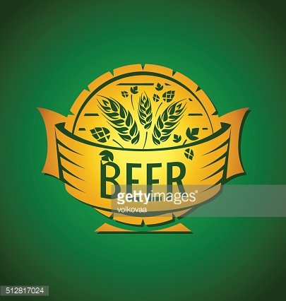 Vector template beer emblem