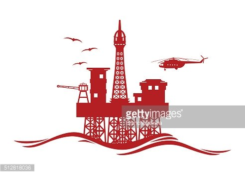 Oil Platform vector icon