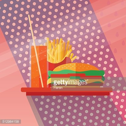 Fast food concept in flat style