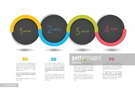 Infographic vector option banner with 4 steps. Infographic template.