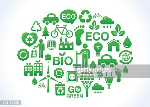 Ecology, recycling, footpring, healhy living concept