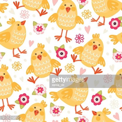 pattern with chickens