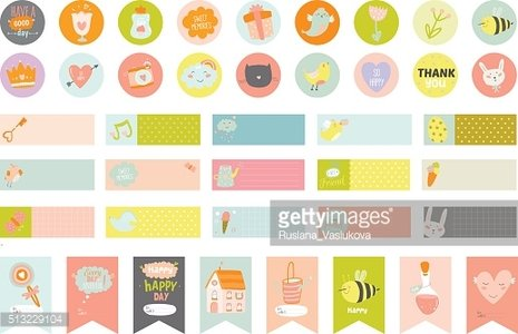 love cards, notes, stickers, labels