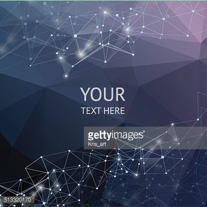 Abstract polygonal backgroun. Low poly design with connecting do