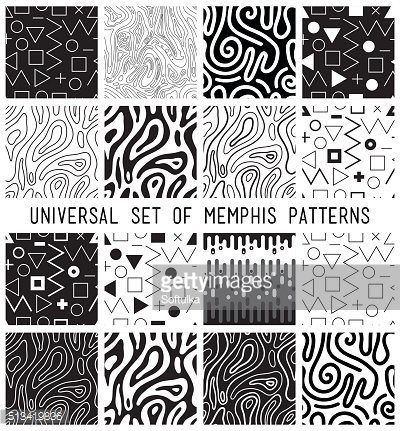 Universal vector lineal geometric seamless pattern