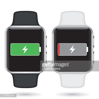 Smartwatch Full and Low Battery