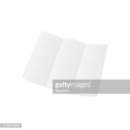 Blank folded realistic A4 Template