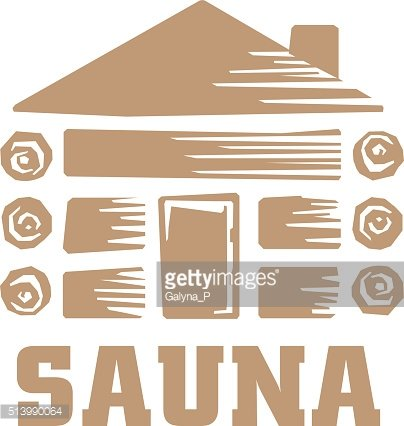 wood sauna vector illustration icon