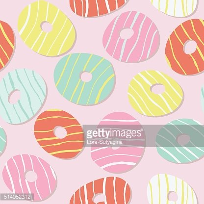Colorful sweet donut pattern. Icing. Seamless.