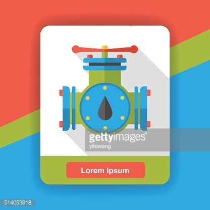water pipe flat icon