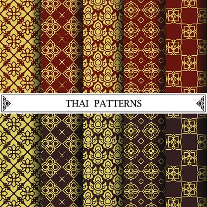 Thai Pattern Pattern Fills Web Page Background Surface Textur