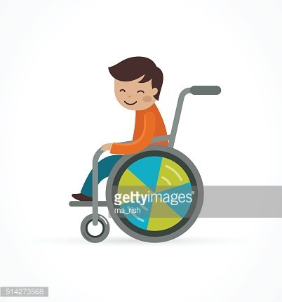 disabled child, boy in a wheelchair