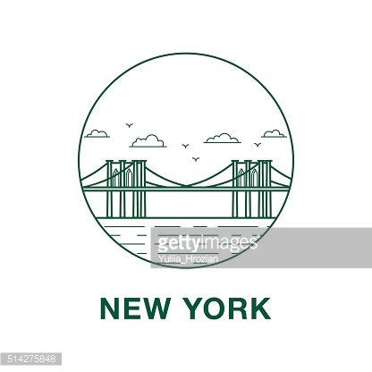Brooklyn bridge illustration