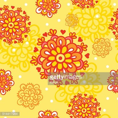 Seamless pattern with autumn flowers.