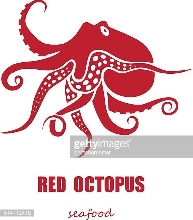 Red octopus seafood