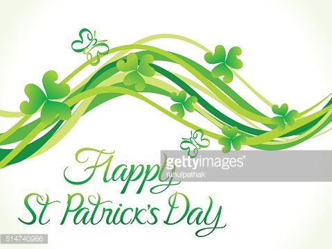 abstract st patrick day wave