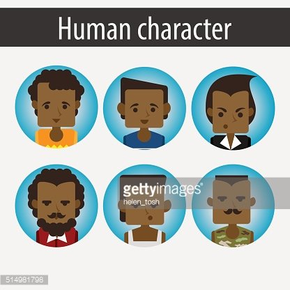set male African character
