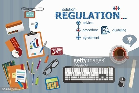 Regulation and flat design illustration concepts for business