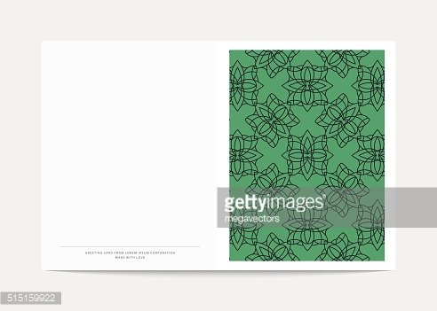Magazine cover with geometric patterns. Cover page template .