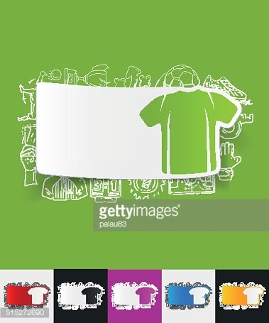 shirt paper sticker with hand drawn elements