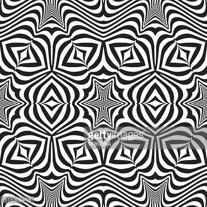 optical art abstract striped seamless deco pattern