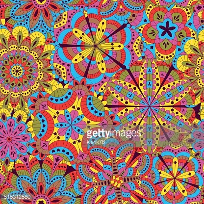 Floral background made of many mandalas