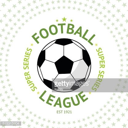 Old style vintage Football Label with ball, star background Vector