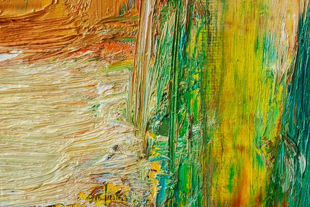Abstract Painted Green And Orange Art Backgrounds Clipart