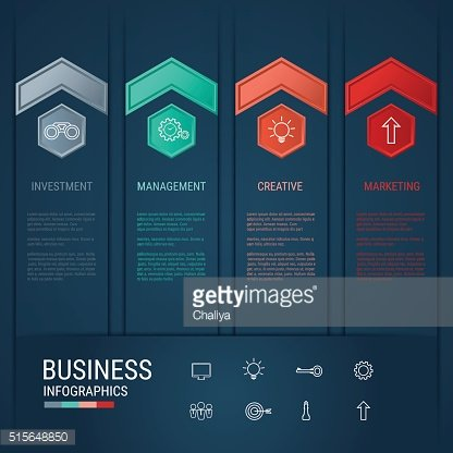 Modern arrow infographics elements. Successful business concept infographic template.