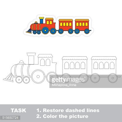 Train to be traced. Vector trace game