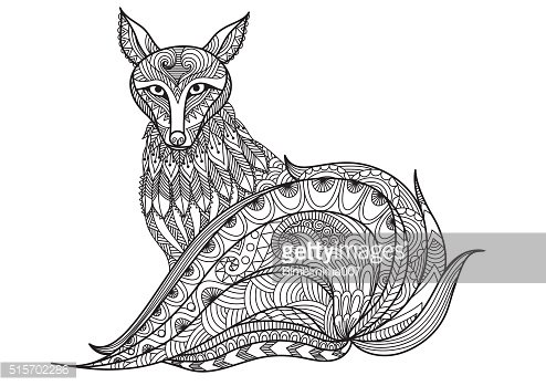 Red Fox Coloring Book Clipart 1 566 198 Clip Arts