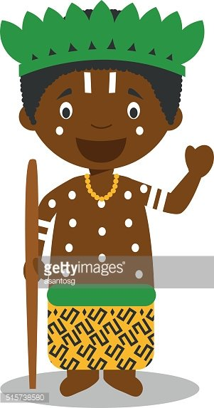 Character from Congo dressed in the traditional way Vector Illustration.