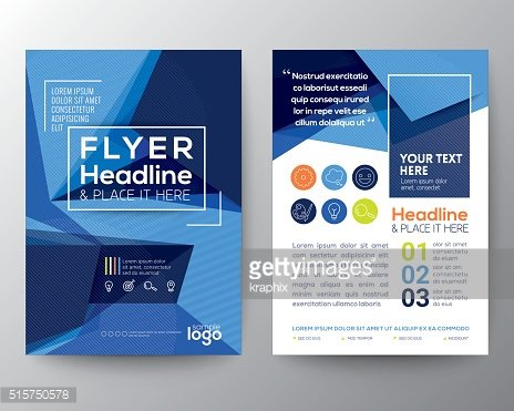 Abstract Triangle shape Poster Brochure Flyer design template Layout