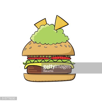 Tasty burger with guacamole