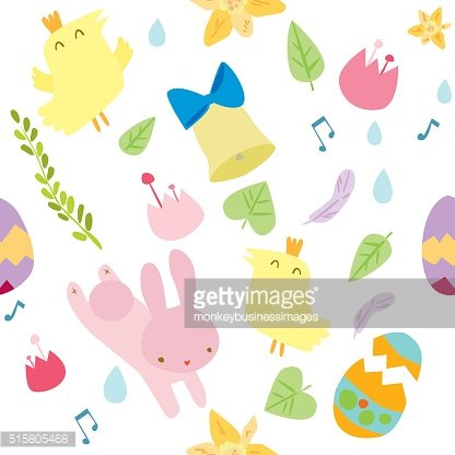 Easter themed seamless vector pattern.