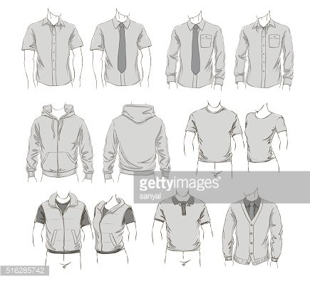 Vector set of clothes