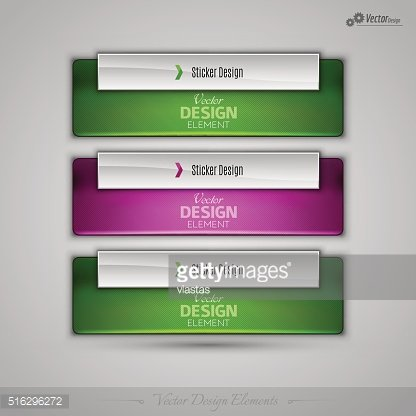Vector business banners editable design elements for infographic