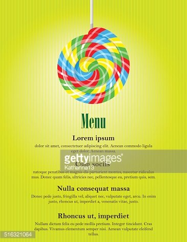 Colorful swirl lolly pop, candy store banner template